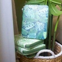 Yiwi Orijinal A6 Yeşil Yaprak Hobo Zip Çanta Planlayıcısı Yaratıcı Günlüğü Dizüstü Ofis Malzemeleri Hediye Kutusu