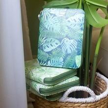 Yiwi sac à feuille verte A6, sac à fermeture éclair Hobo, fournitures de bureau pour agenda intime créatif avec boîte cadeau