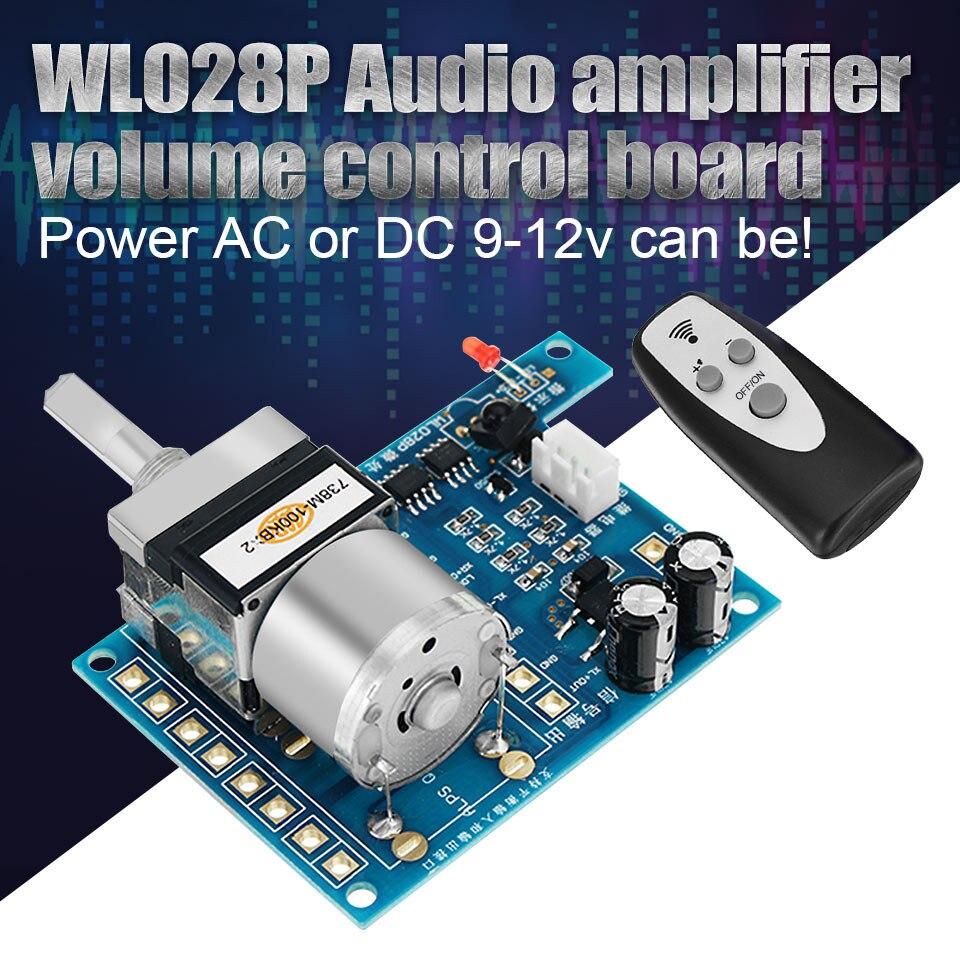 2017 New AC/DC 9V Infrared Remote Control Volume Control Board ALPS Pre Motor Potentiometer 80mmx 51mm