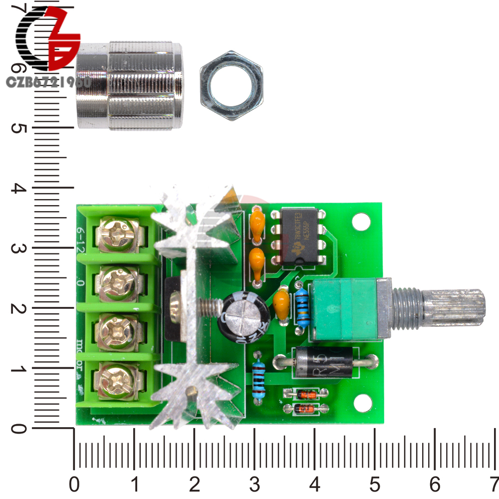 High Power 6a 6v 12v Pwm No Polarity Dc Motor Speed Regulator Ac Control Circuit Reversing 1 X Controller Switch Picture 8