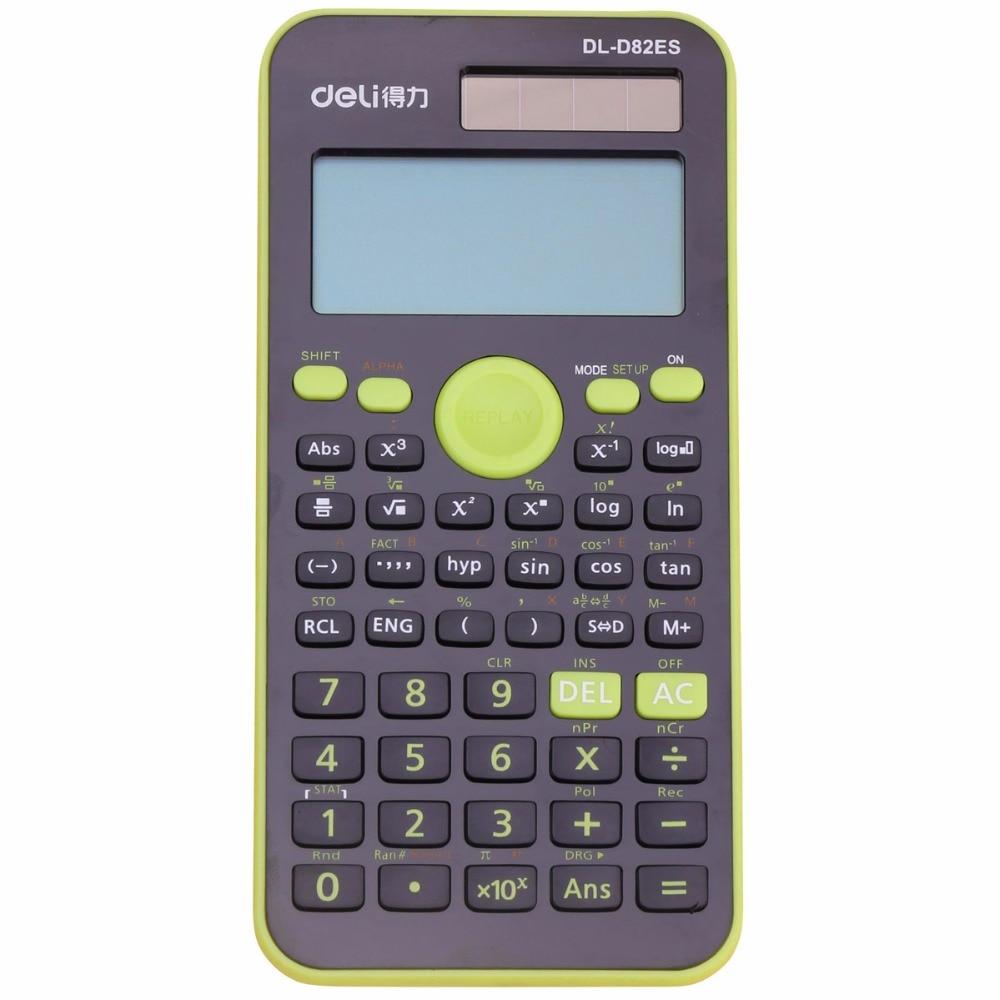 Подлинная рабочего Двойной Мощность 252 видов Функция научный калькулятор solar + Батарея Мощность 12 цифровой 2-линии ЖК-дисплей Дисплей ...