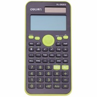 Genuine Deli Desktop Dual Power 252 Kinds Function Scientific Calculator 12 Digital 2 Line LCD Display