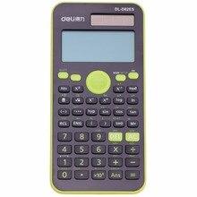 Подлинная рабочего Двойной Мощность 252 видов Функция научный калькулятор solar + Батарея Мощность 12 цифровой 2-линии ЖК-дисплей Дисплей