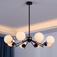 Modern Glass Ball Chandelier Living Room Kitchen Bedroom Minimalist Long Hanging Chandeliers Lighting lustre