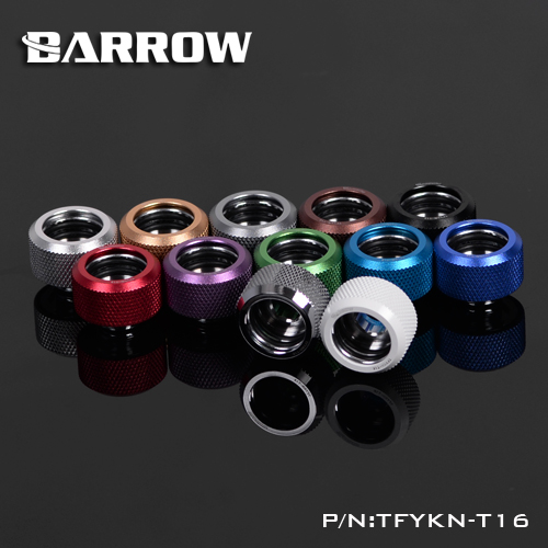 Barrow TFYKN-T16, OD16mm Choice Hard Tube Fittings, G1/4 Adapters For OD16mm Hard Tubes