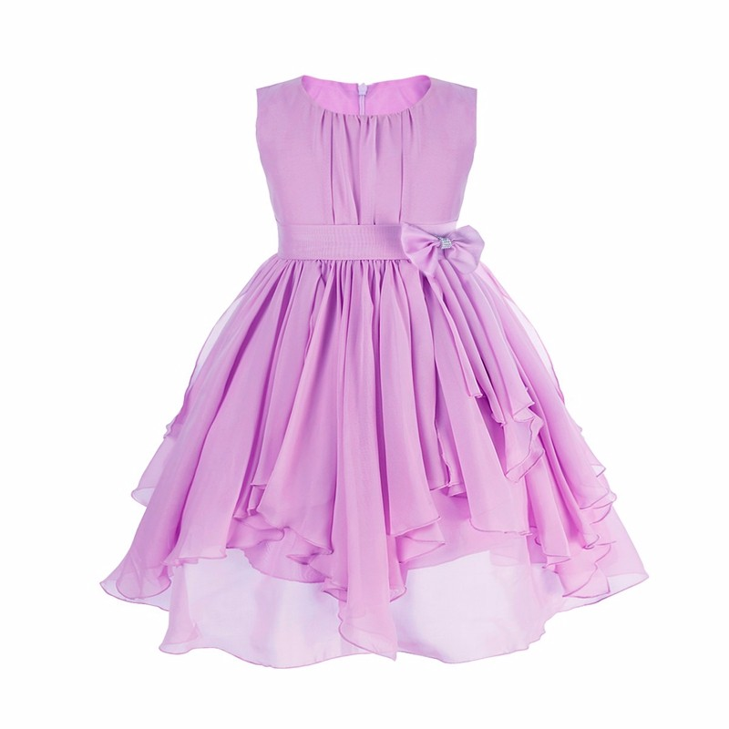 2 to 13 Years Girls Clothes Girl Dress Purple Blue Red Dress Princess Sress Roupas Infantis Menina Flower Girls Sequined dresses