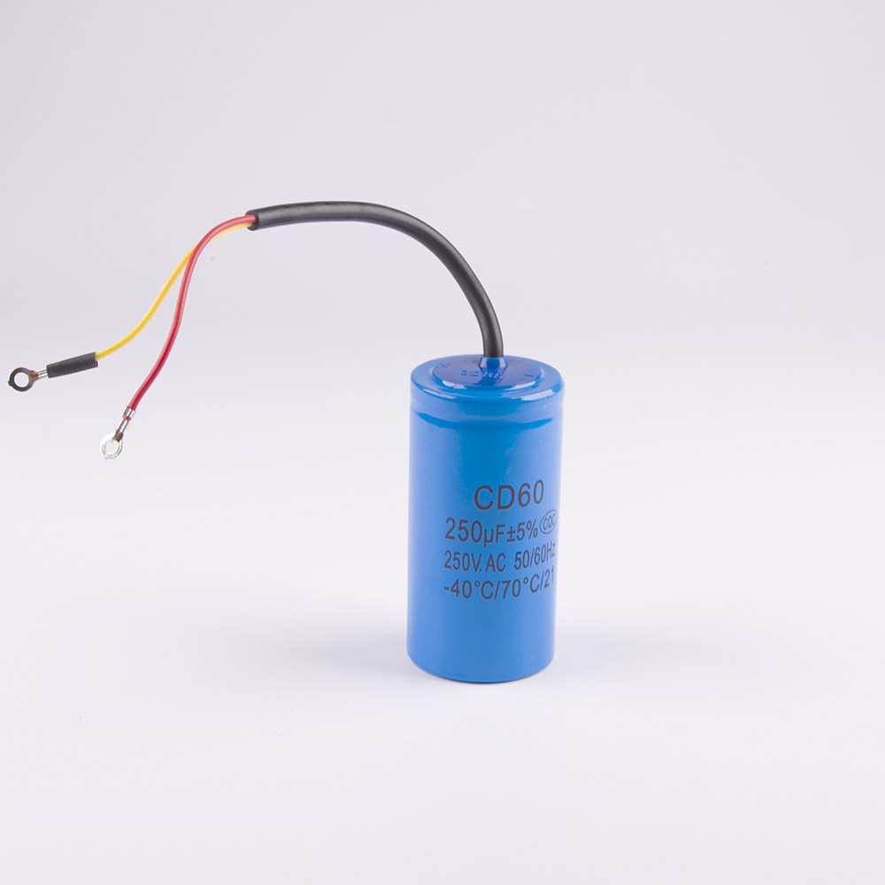 Online Shop Cd60 150uf 250v Ac Starting Capacitor For Heavy Duty Start Wiring 250uf Electric Motor Air Compressor Red Yellow Two