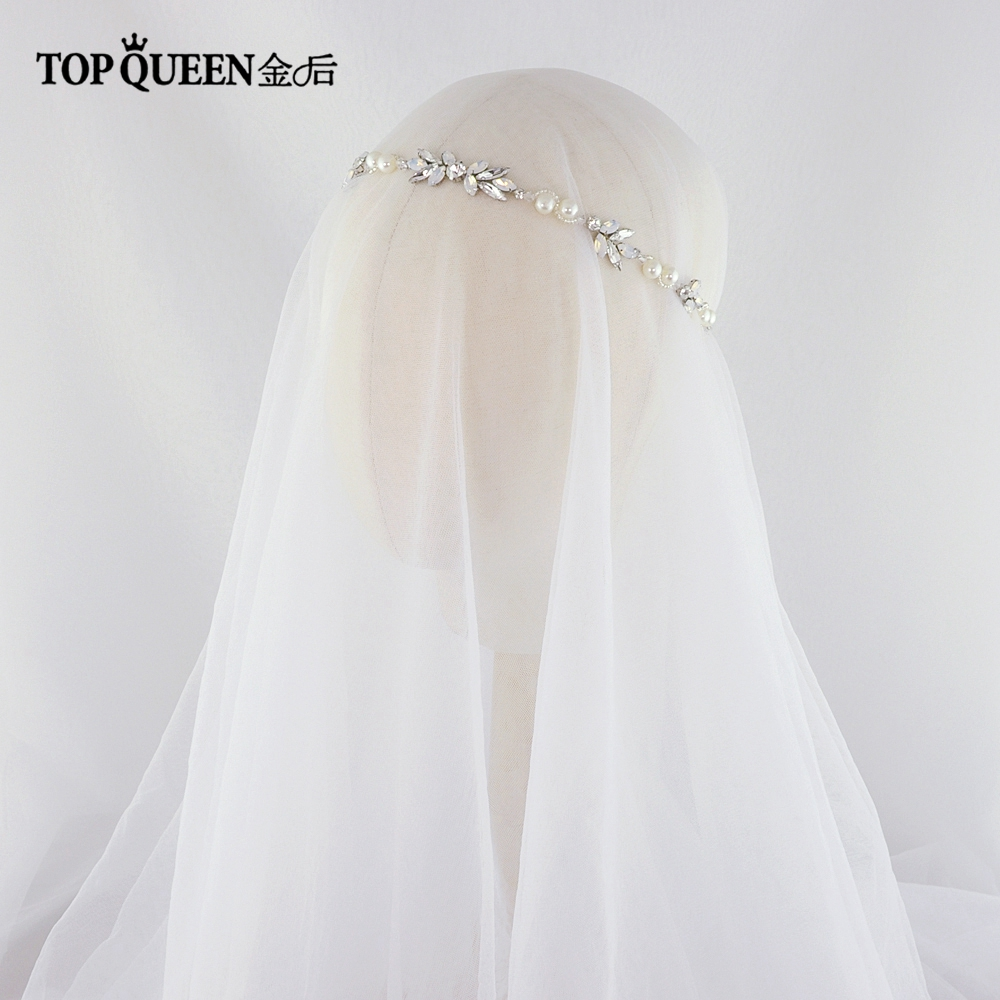 TOPQUEEN HP132 Crystal Rhinestone Hair Bridal Headband Luxury Crystal Bride Headband Wedding Hair Vine Bridal Headpiece For Girl