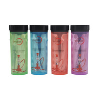 1 X Portable Acrylic Bottle Hookah Easy Outdoor Picnic Beach All In One Shisha Chicha Bottle