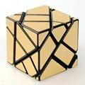 Ninja 60mm 3x3x3 Velocidade Enigma Cube Skewb Magic Cubes Fantasma Jogo Cubos Brinquedos Educativos Para Crianças dos miúdos-Sliver/Ouro