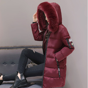 Image 5 - Parka Women Winter Coats Long Cotton Casual Fur Hooded Jackets Women Thick Warm Winter Parkas Female Overcoat Coat 2019 MLD1268