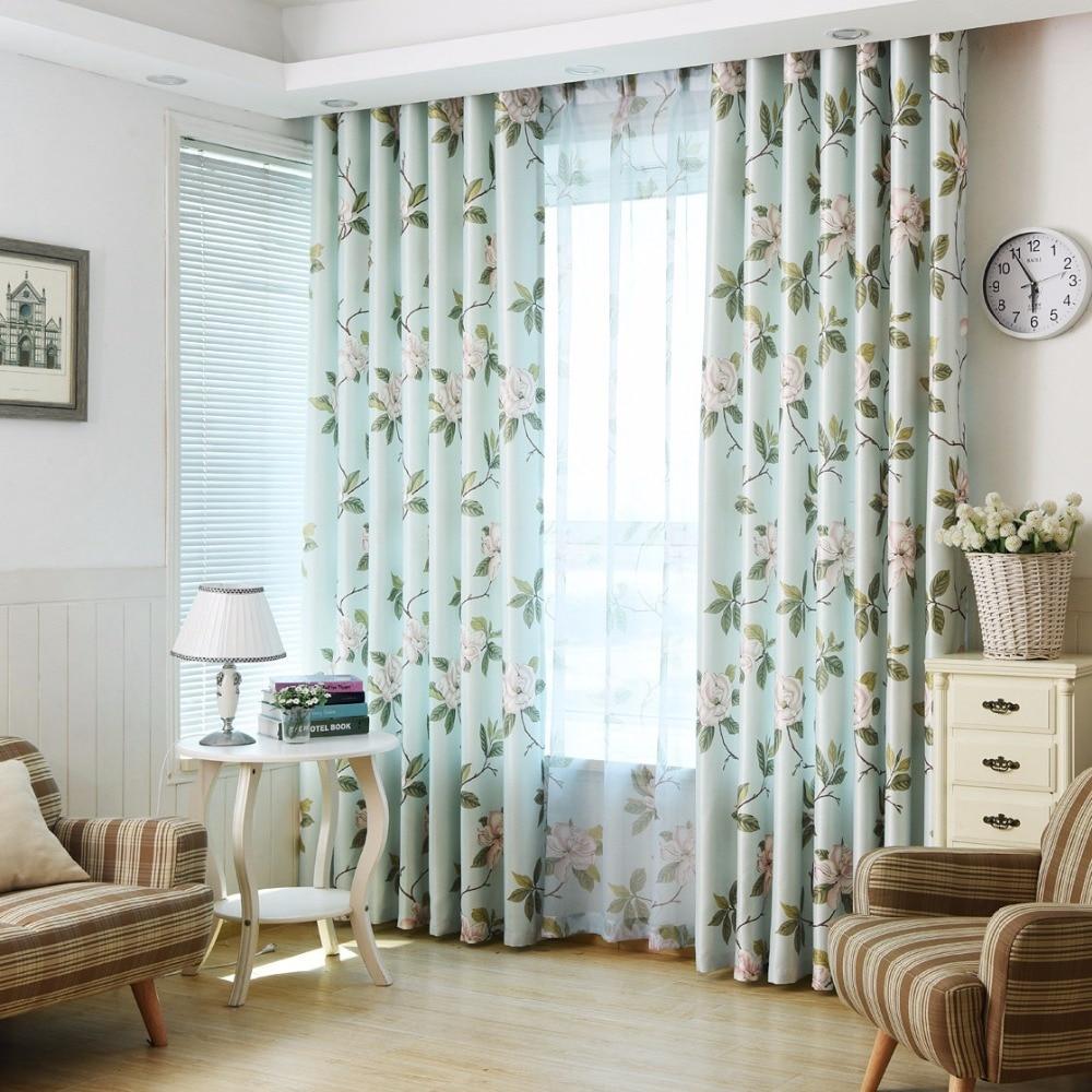 Aliexpress.com : Buy Print Home Textile Flower Window Curtain Living ...