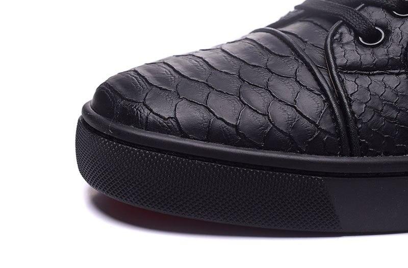MIQUINHA Black Snake Print Schoenen 2017 Luxe Merk Heren