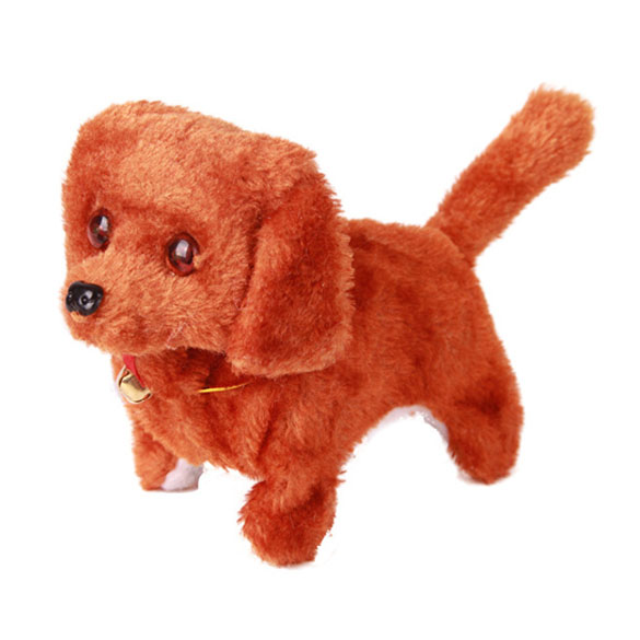 New-Electronic-Dog-Toy-Battery-Powered-Steel-Blue-Plush-Walking-Barking-Electronic-Pets-Dog-Toys-Brown-Yellow-Pink-3