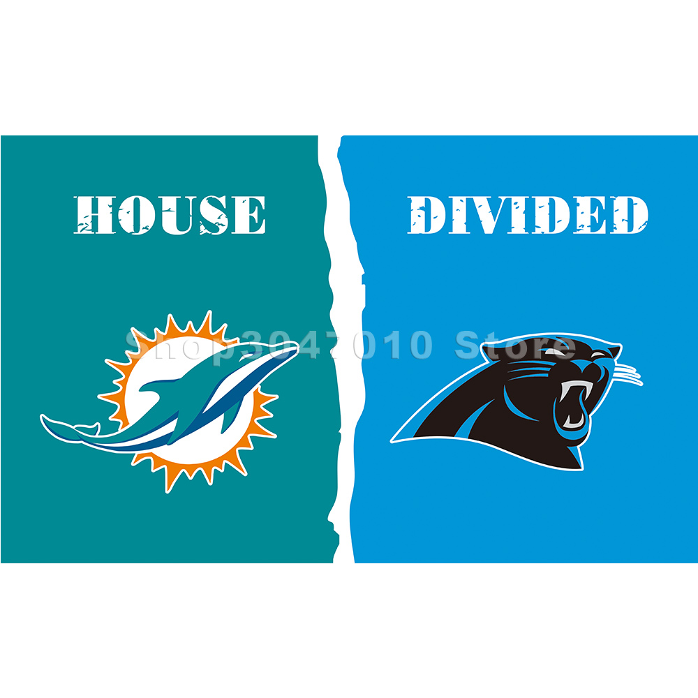 9ef4acc1 Dolphins and Carolina Panthers House Divided flag-in Flags, Banners ...