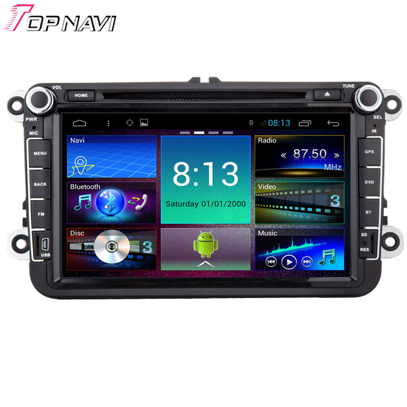 Topnavi 8'' Quad Core Android 6.0 Car DVD Multimedia Player for VW Universal Autoradio GPS Navigation Audio Stereo Bluetooth