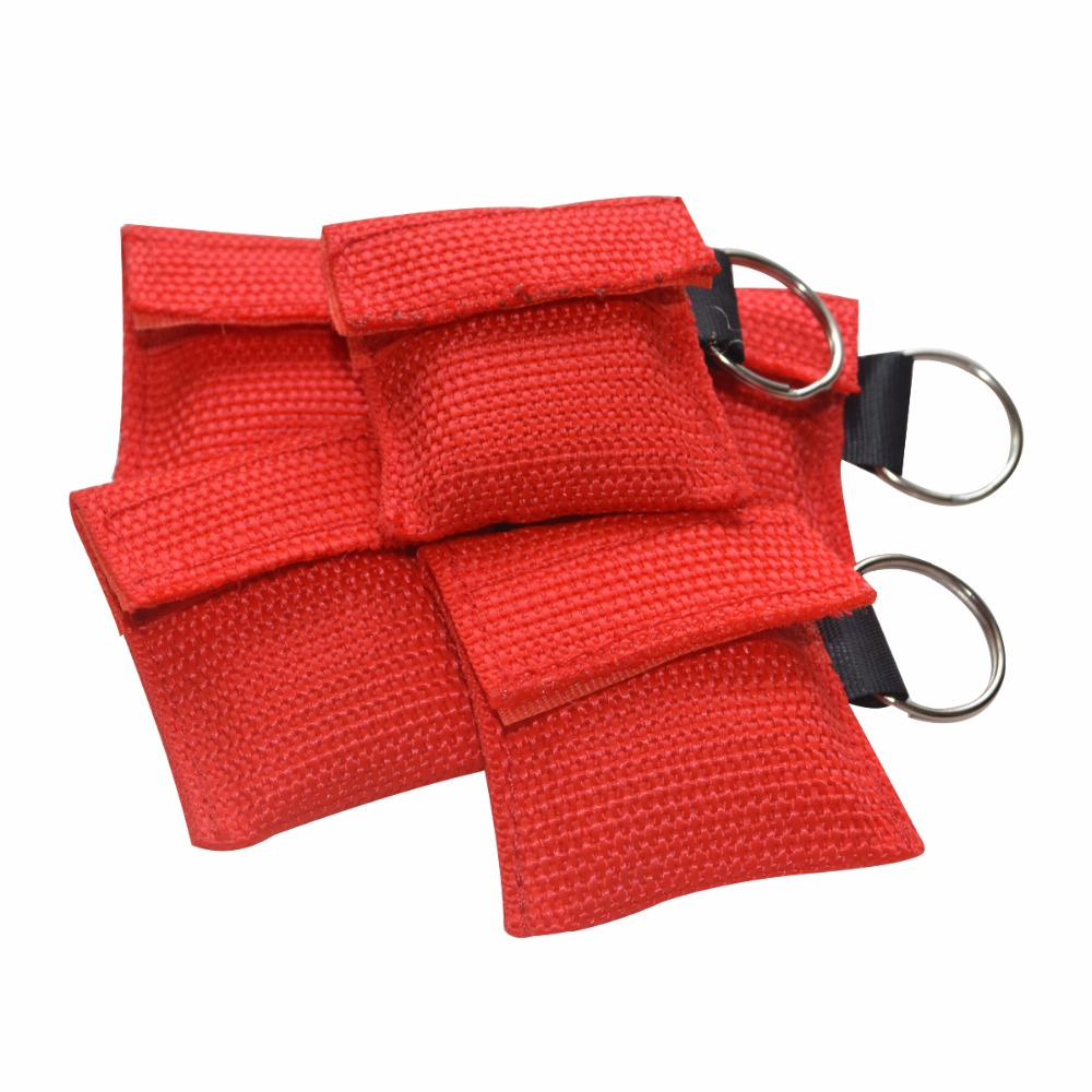 80Pcs/Pack CPR Resuscitator Masks Emergency CPR Face Shield First Aid Rescue Training Health Care Tool With A Red Pouch handle cpr azard vaz 2113 15 frame vinyl red kpp00030