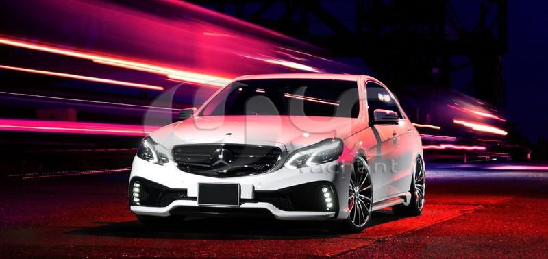 2013-2015 Mercedes Benz W212 E Class Sedan Wald Sports Line Black Bison Edition Style Body Kit FRP (7)