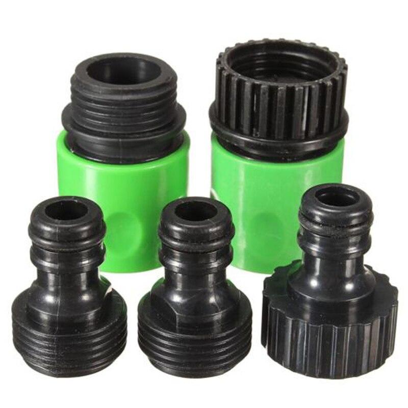 5Pcs Garden Hose Quick Connect Plastic Hose Tap Adapter Connector Set Kit New