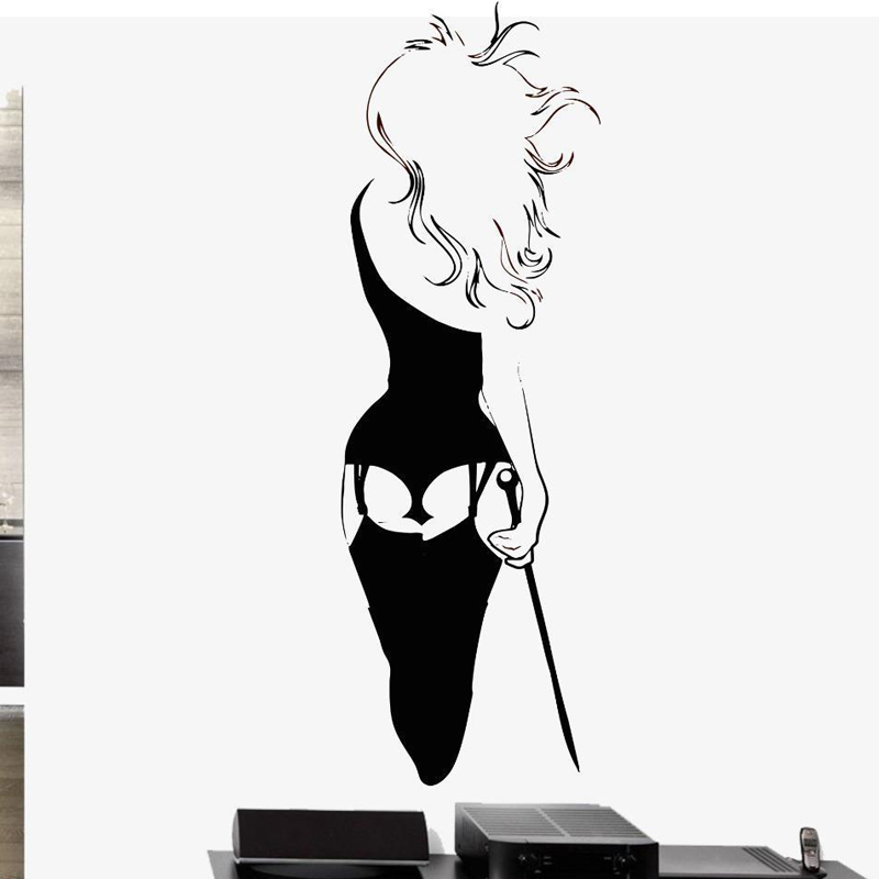 Kinky Mistress Vinyl Wall Decal Sticker Whip Chain Bondage