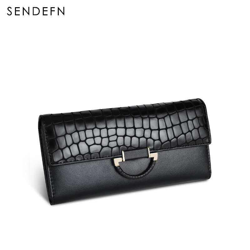 Sendefn Fashion Coin Purse Hot Sale Wallet Quality Leather Women Wallets Card Holder Purse Lady Party Clutch Long Wallet Female hot sale women wallets fashion genuine leather women wallet knitting zipper women s wallet long women clutch purse
