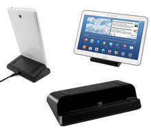 Cargador micro usb del cargador del muelle estación de la horquilla del soporte para samsung galaxy Tab 4 3 Tab 7.0 8.0 10.1 Nota 8.0 Tab S Tablet