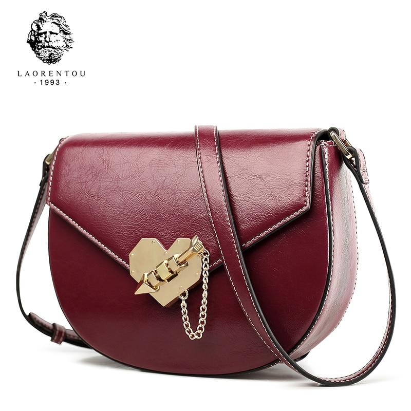 Laorentou Brand New Fashion Split Leather Crossbody
