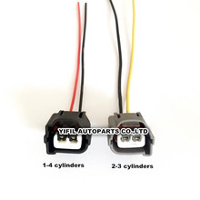 2/4/10 компл./лот 2 Pin/способ зажигания Катушка зажигания высокого Давление сумка разъем Корпус с выводным проводником для hyundai Kia Accent