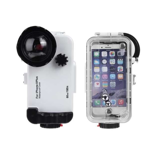 wholesale dealer b5491 f80c4 ALLOET Underwater 60m/195FT Diving Explosion-proof Case For iPhone 8 Plus  IPX8 Waterproof Phone Camera Lens Cover Cases For i8P