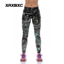 NEW KYK1080 Sexy Girl Women Time Watch Wheel Gear 3D Prints High Waist Polyester Fitness Leggings Pants Plus Size