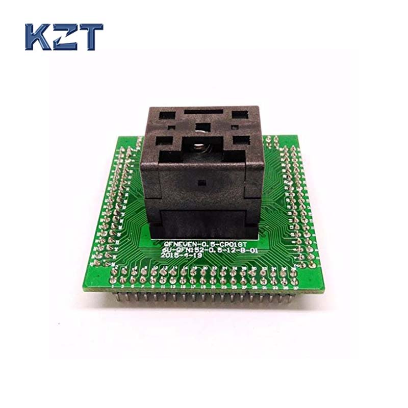 QFN programmer socket IC Test Socket IC550-0644-006-G Pitch 0.5mm Chip Size 9*9 Flash Adapter Clamshell QFN64 MLF64 free shipping program ch2015 usb high speed programmer 300mil fp16 to dip8 socket eeorom spi flash data flash avr mcu programmer