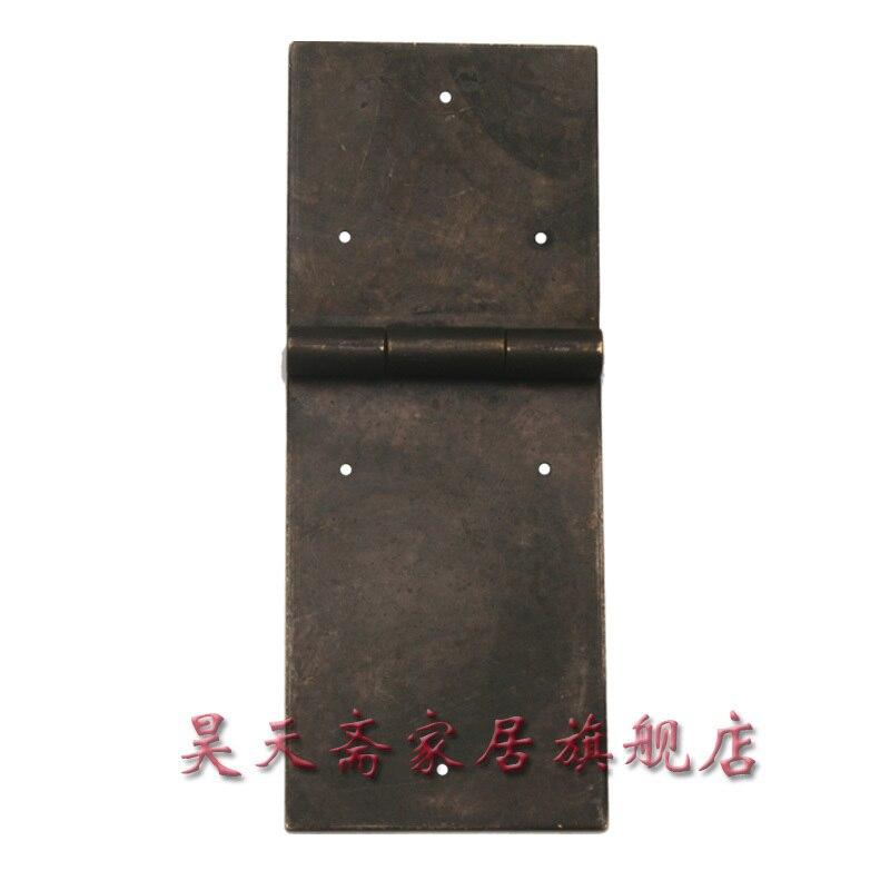 [Haotian vegetarian] antique copper hinge / length 15cm hinge / Chinese Accessories HTF-076 (1) [haotian vegetarian] chinese antique door hinge copper hinge htf 108 paragraph three flowers