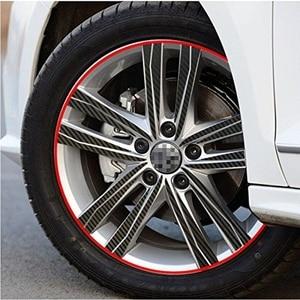 Image 3 - 16 шт. полосы обода полосатые наклейки для 16/17/18 дюймов ступицы колеса для автомобиля стикер Водонепроницаемый солнцезащитный крем авто автомобиль со светоотражающими элементами