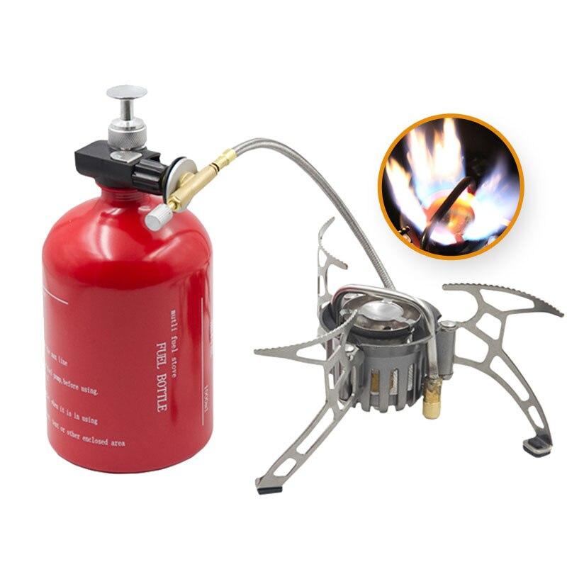 APG компактная туристическая мульти горелка для приготовления пищи: газ, бензин, керосин, дизель + 1000мл баллон