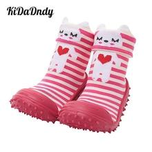 kidadndy Baby Socks With Rubber Soles Soft Bottom Non-Slip Rubber Footwear Dimensional Cartoon Toddler Home Floor Socks Ws934