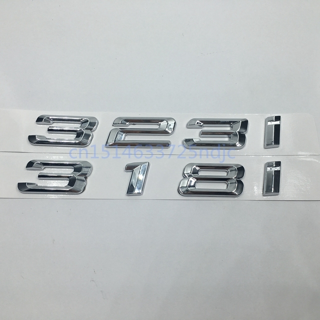 Car trunk rear emblem logo stickers badge chrome letters 318i 323i for bmw 3 series