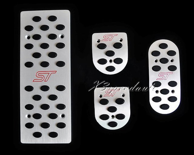 4PCS Aluminum Fuel Brake Foot Rest MT Pedals Pedal For Ford Focus Mondeo