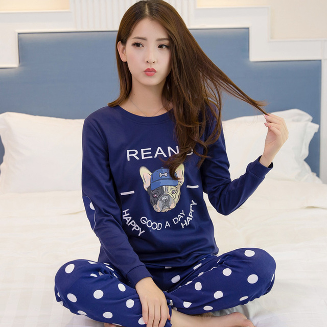 Mulheres Definir Novo Inverno de manga comprida T-shirt tops + pants mulher pijama terno pijamas mujer roupa em casa de Lazer 90 S Linda sleepwear