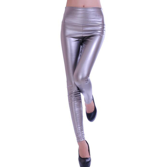 High Rise Leather Leggings