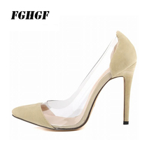 FGHGF Female High Heels Flock Spring Autumn Restaurant Party Wine Wearable Comfortable Wear