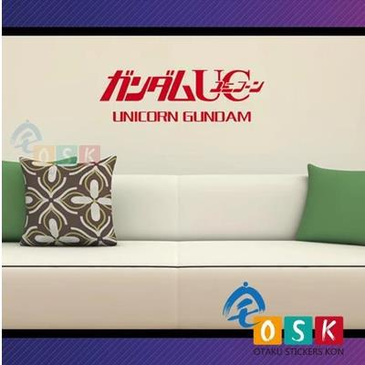 2019 Nieuwste Ontwerp Pegatina Anime Cartoon Auto Sticker Zaad Eenhoorn Gundam Logo Vinyl Muurstickers Decal Decor Home Decoration