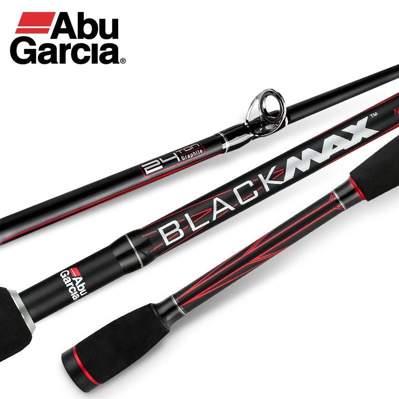 Original Abu Garcia Black Max BMAX Baitcasting Lure Fishing Rod 1.98m 2.13m M Power Carbon Spinning Fishing Cane