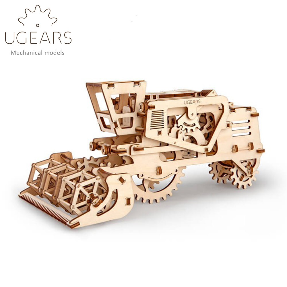 154pcs DIY Wooden Harvester Mechanical Transmission Model Assembly Puzzle Toy for Kids xmas Gift neje yw0007 2 diy puzzle toy space sand air magic clay plasticine sand for kids pink 0 5kg