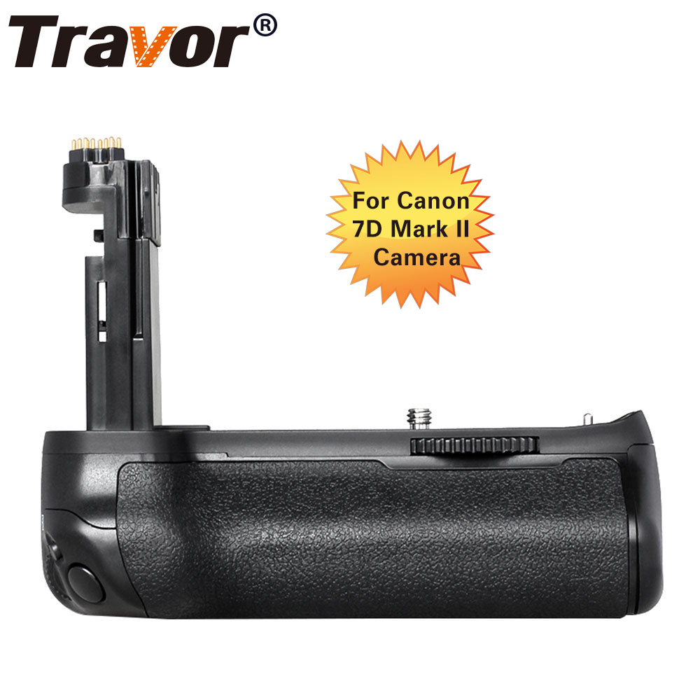 Travor Professional Battery Grip For Canon 7D2 7D MarkII DSLR Camera Replacement BG-E16 travor bg 3b replacement battery grip for sony a77 a77v