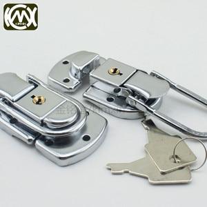 Image 3 - 10pc 34*60mm High grade Box buckle Equipmentcasees lock Flightcase with key locks Iron hasp Locking latch Wholesale KMX W 161