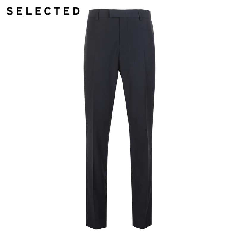 Выбранный новый мужской чистый цвет, Вертикальная мода, формальные брюки, костюм брюки T   41836A508