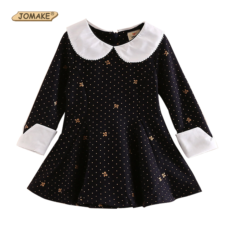 Children Clothing Casual Girls Dress Polka Dot Print Kids Dresses for Girls Long Sleeve Princess Dress Costume for Kids Clothes ladybird appliques dress wholesale clothing for girls princess baby boutique o neck clothes children polka dot dresses 6pcs lot