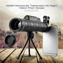 Cheap price 40X60 Optical Zoom Telescope Camera Lens Clip Mobile Phone Telescope HD Mini Night Vision Prism Monocular Telescopes Outdoor