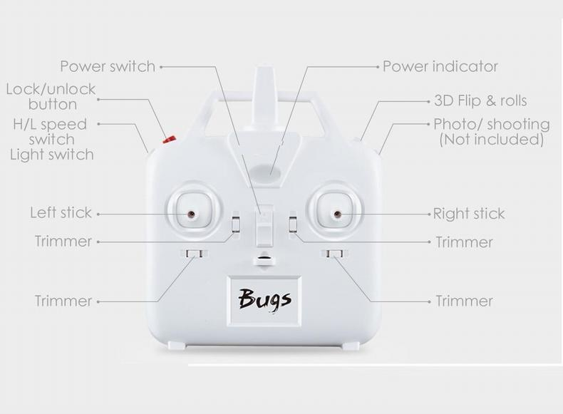 B3 Bugs 3 RC Quadcopter Brushless 2.4G 6-Axis Gyro Drone with Camera Mounts for Gopro Camera free shipping 17
