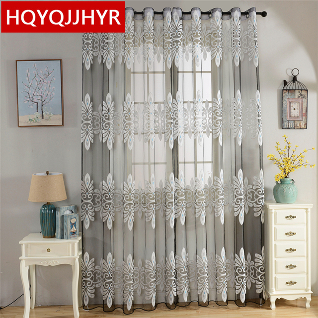 Chinese Classic High Grade Cutting Motif New Tulle Curtains For Living Room  Luxury Stylish Screens Part 63